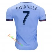 New York City 2017-18 David Villa 7 Hemmatröja Kortärmad..